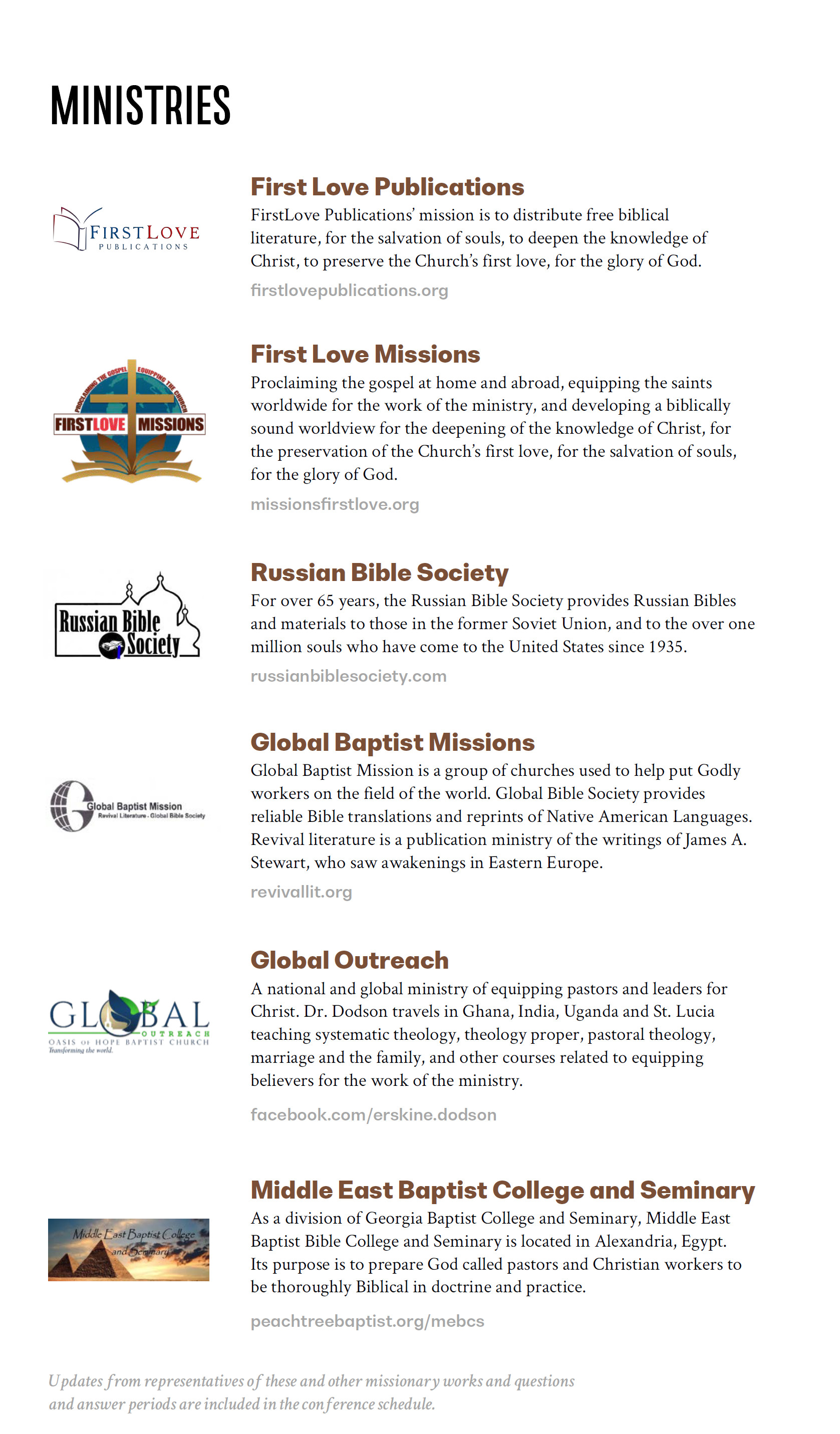 Missions God's Way Conference – Ministries – Sovereign Grace